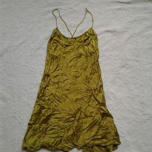 Victorias Secret Silk Chemise S Green Nightie